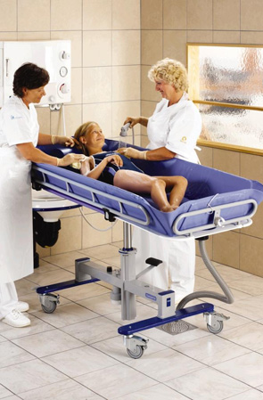 New Mobility Equipment : Hoists, Shower Trolleys, Baths, Slings, Beds